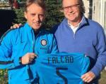 Falcao ospite di Mancini ad Apppiano